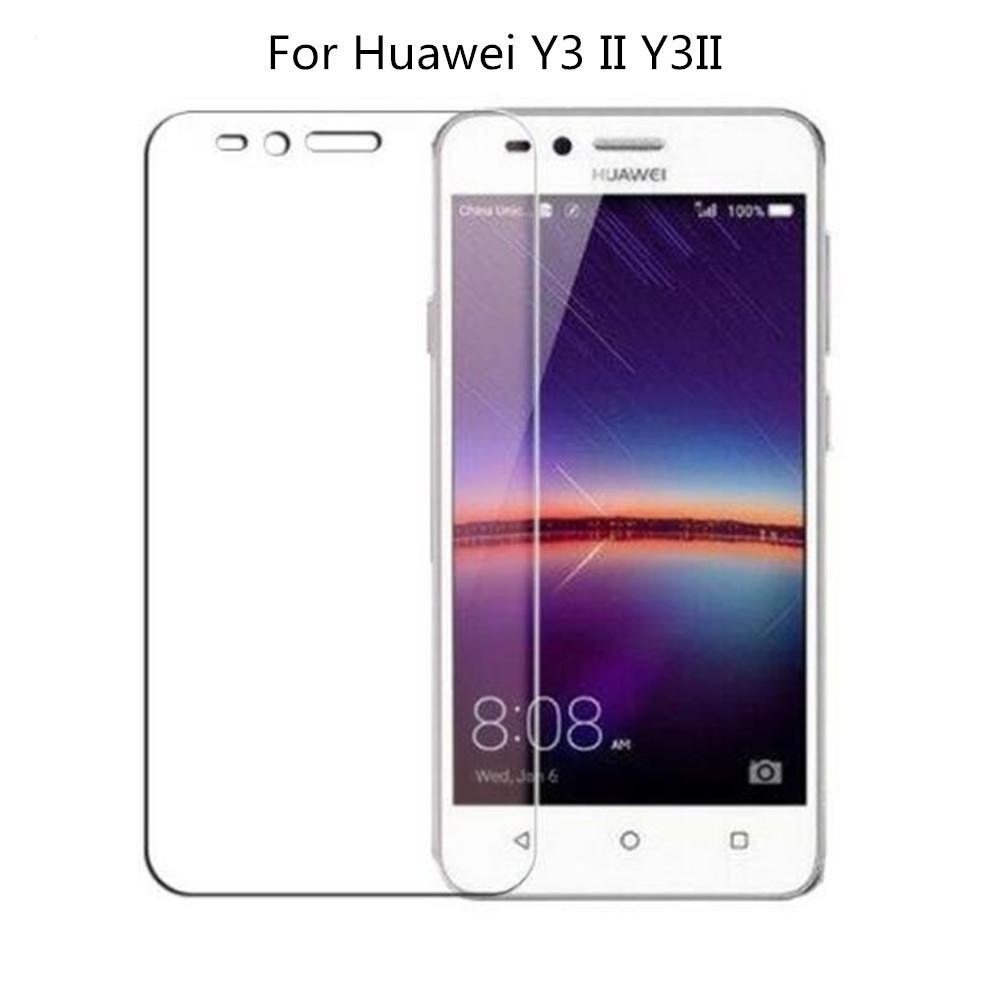Vidro temperado Huawei Y3 II / Y3 2 / Y3ii LUA-L03 LUA-L02 LUA-L21 LUA-U22  LUA-L03 Filme de vidro protetor de tela Huawei Y3II