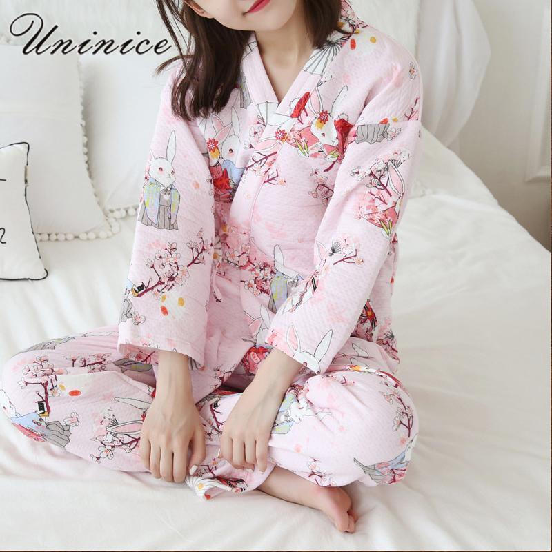 2019 Japanese Yukata Winter Warm Bathrobe Kimono Suits Robes Pajamas Tops  Pants Sets Thickening Cotton Pyjamas Sleepwear Home Leisure From Wenshicu 18ad68a67