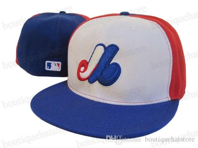 fa64d5ce618 Best Selling Canada Team Fitted Baseball Caps Embroidered Logo Montreal  Expos Sports Closed Hats Outdoor Fashion Hip Hop Chapeau Bones Brixton Hats  Trucker ...