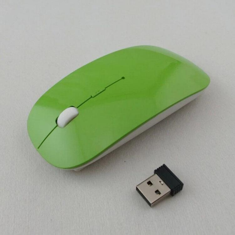 2018 Ratón inalámbrico óptico ultra delgado USB 2.4G Receptor Ratón súper delgado para computadora PC Laptop Desktop caramelo