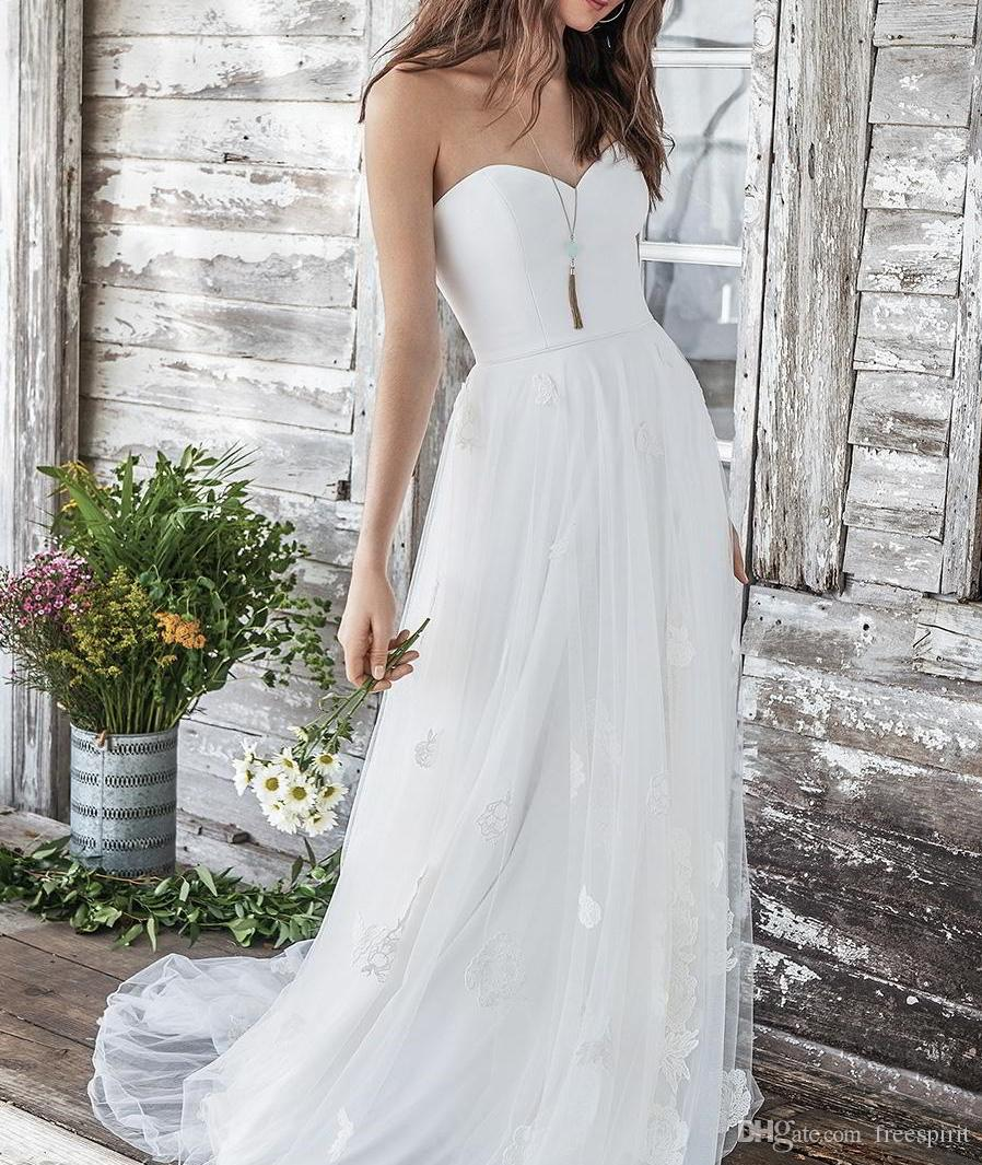 Discount Simple Classic Wedding Dress Chic 2018 Satin Top Sweetheart
