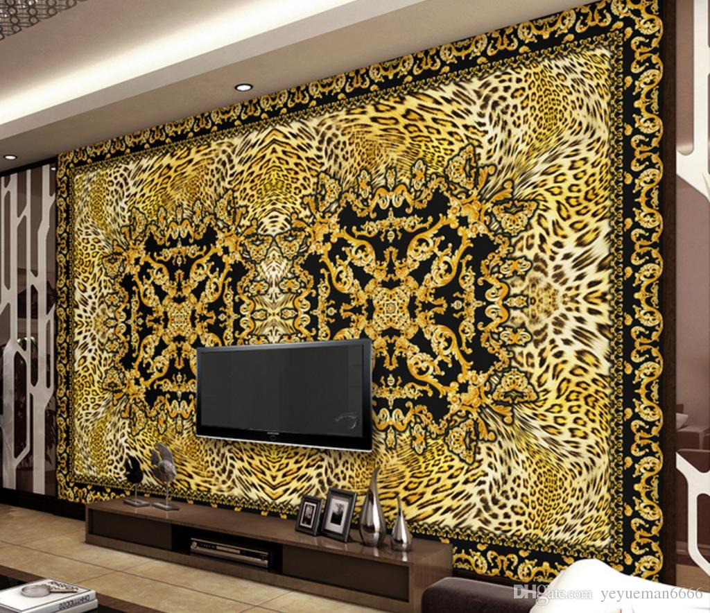 Customize European Luxury Retro Wallpaper For Walls 3 D Living Room Bedroom Wallpaper 3d Stereoscopic Leopard Background Wall House Wallpaper Hq Hd