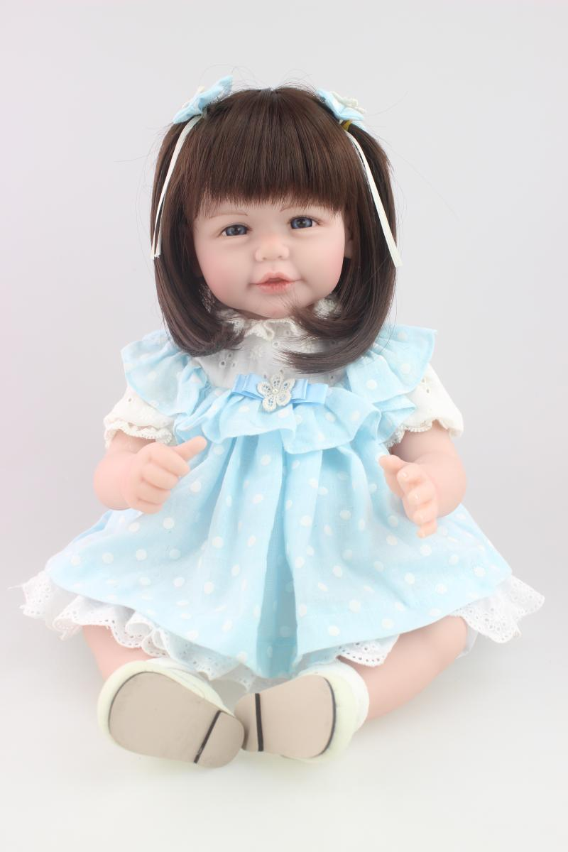 wholesale reborn baby doll soft silicone 20inch lovely lifelike cute