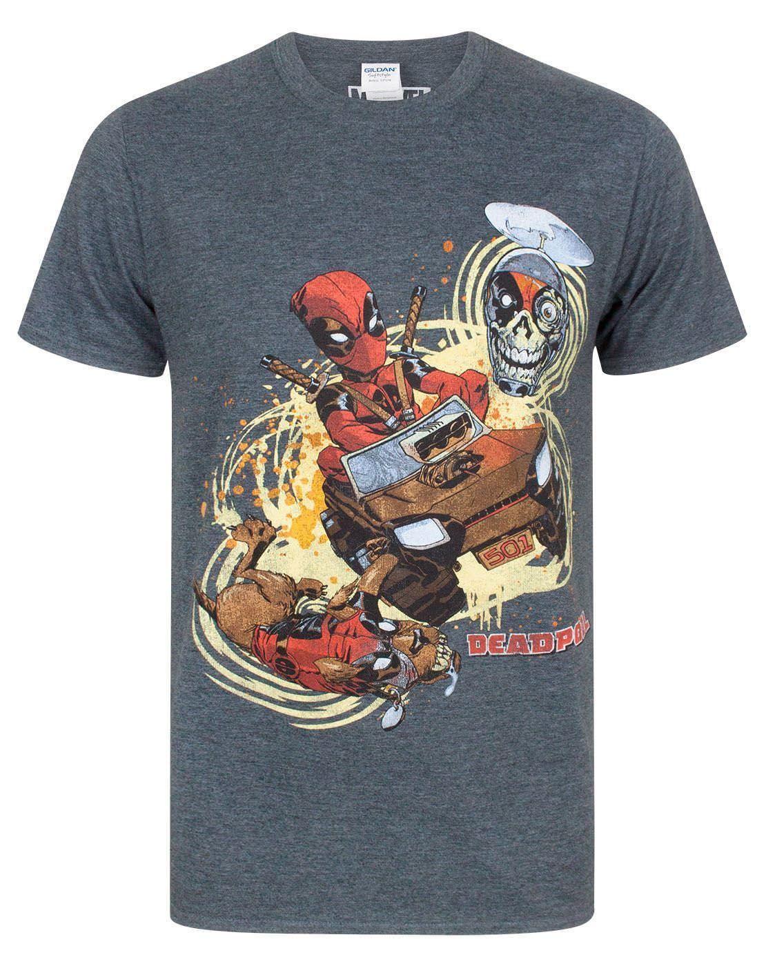 e4882bf6f Compre Marvel Comics Deadpool X Men Dogpool Headpool S XXXL Masculina  Carvão Marl T Shirt De Fcwmcu
