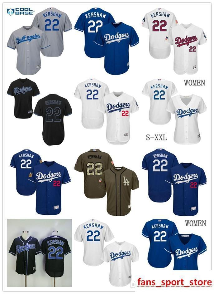 97fefa5bfc0 2019 2019 Men S LA Ls As Dodgers  22 Clayton Kershaw 100% Stitched Baseball  Jersey White Blue For Men And Women Youth Size S XXXL From  New jersey store