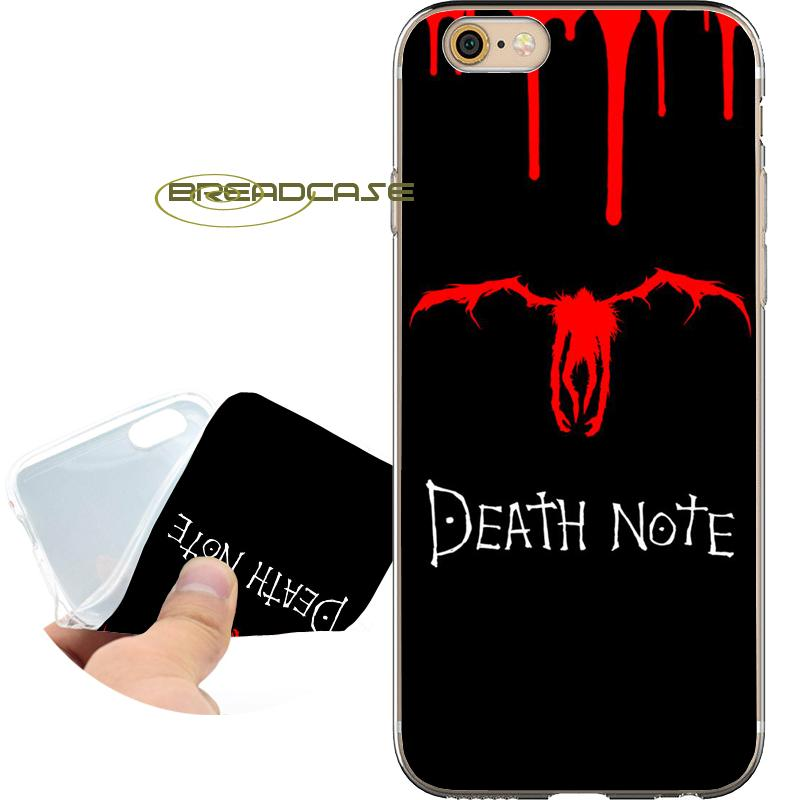 size 40 06949 8b376 Coque Black Death Note Shell Cases for iPhone 10 X 7 8 6S 6 Plus 5S 5 SE 5C  4S 4 iPod Touch 6 5 Clear Soft TPU Silicone Cover.