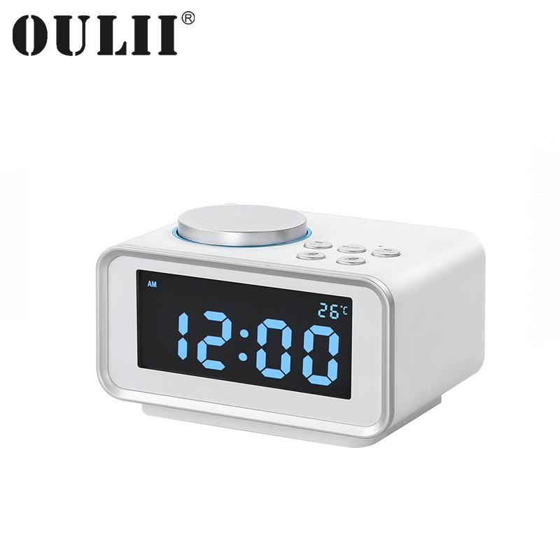 Oulii Diy Creative Digital Alarm Clock Multifunctional Battery Operated Table With Lcd Temperature And Nightlight Display Desk Clocks