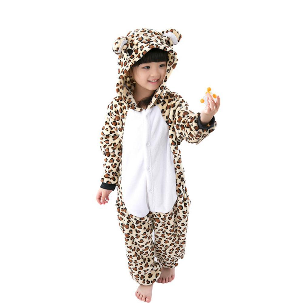 a4ed6f624 Boys Girls Flannel Animal Cartoon Pajama Onesie Baby Pajamas Warm ...