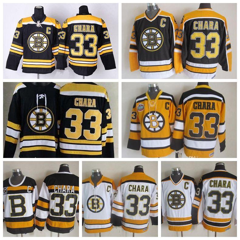 2019 Boston Bruins Hockey Jerseys 75 Anniversary Zdeno 33 Zdeno Chara Black Chara  Winter Classic Yellow Jerseys C Patch From Lejerseys cfa13bfb5