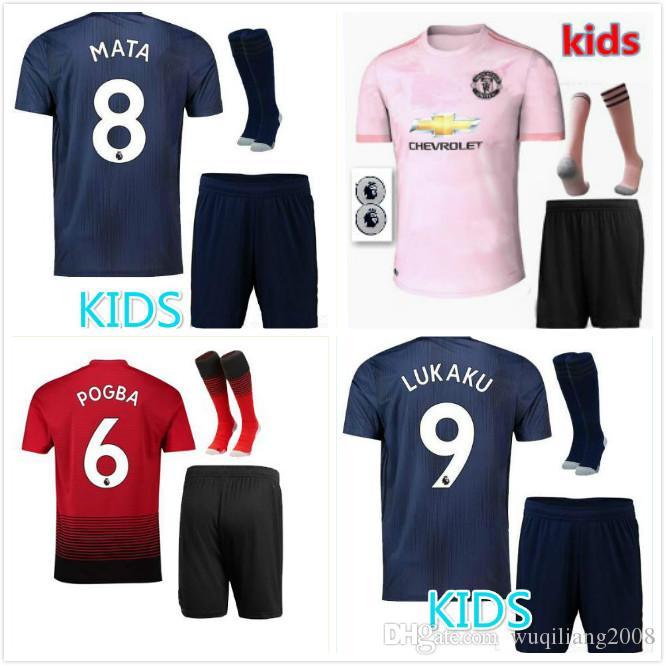 a5dc07c7e Top 2018 2019 Kids Kits+socks POGBA ALEXIS Home Away 3rd Soccer ...