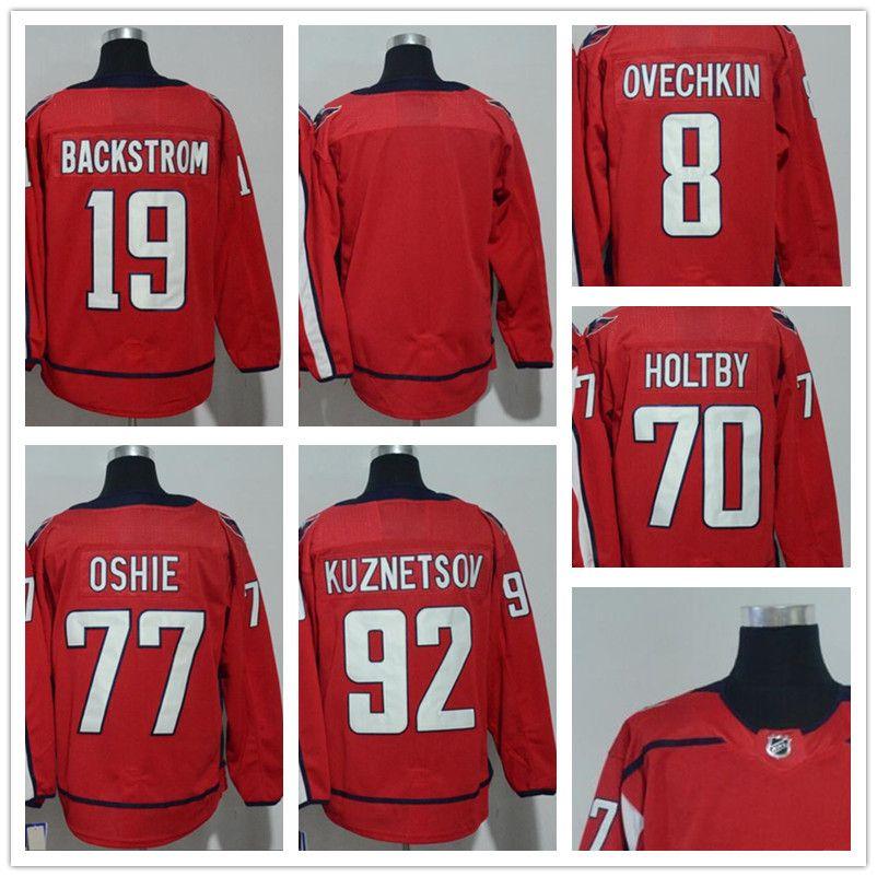 994538f78 2018 Mens NHL Jersey  70 Holtby  92 Kuznetsov  77 Oshie  19 ...