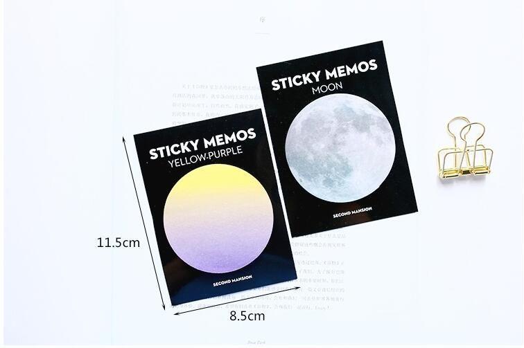 2020 neue Natur Dream Series Self-Adhesive Notizblock Haftnotizen Pop-up-Bookmark-Noten Schule Bürobedarf