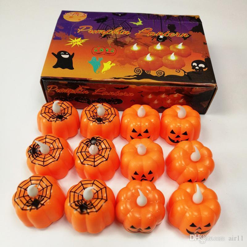 Halloween Decoration Led Night Light Battery Powered Pumpkin Spider