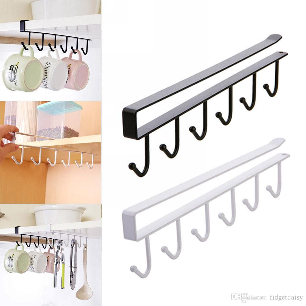 Kitchen Storage Rack Cupboard Hanging Coffee Cup Organizer Closet ...