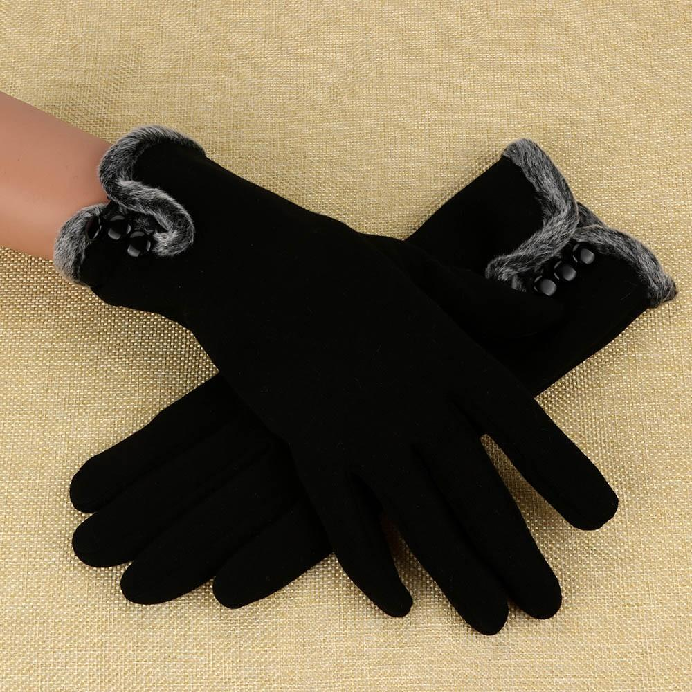 7f6da82b97cc7a 2019 Winter Women Gloves Cashmere Warm Full Finger Gloves 2018 New Screen  Touch Elegant With Faux Fur Female Mitten From Geworth, $33.08 | DHgate.Com