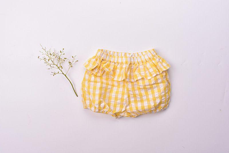 2018 INS new arrival baby kids summer cute plaid print Ruffles shorts sweet pants