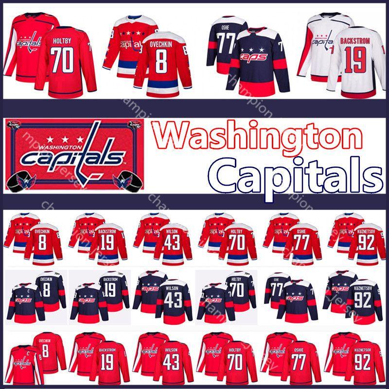 low priced c4216 88b6b Men's Washington Capitals Jersey 8 Alex Ovechkin Nicklas Backstrom Tom  Wilson Braden Holtby T.J. Oshie Evgeny Kuznetsov NHL jsereys