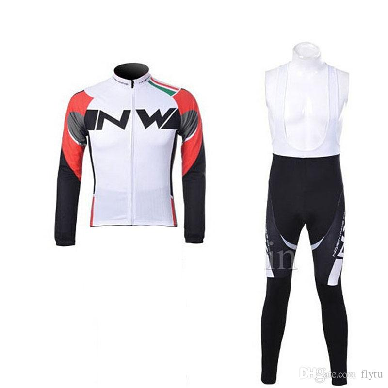 2861915a5 NW Team Long Sleeve Cycling Jersey Set MTB Bicycle Clothing Maillot ...