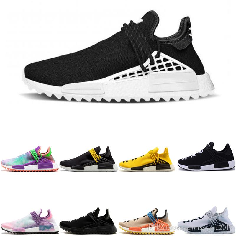 455084bf2 2019 Wholesale MD Human Race Pharrell Williams X Mens Running Shoes Discount  Cheap Athletic Mens Outdoor Training Sport Sneaker Shoes Free Ship From ...
