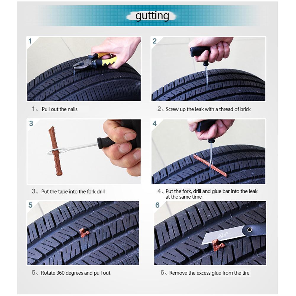 Tubeless Seal-Strip-Plug Fahrrad-Auto-Reifen-Reparatur-Recovery-Werkzeuge für Reifen