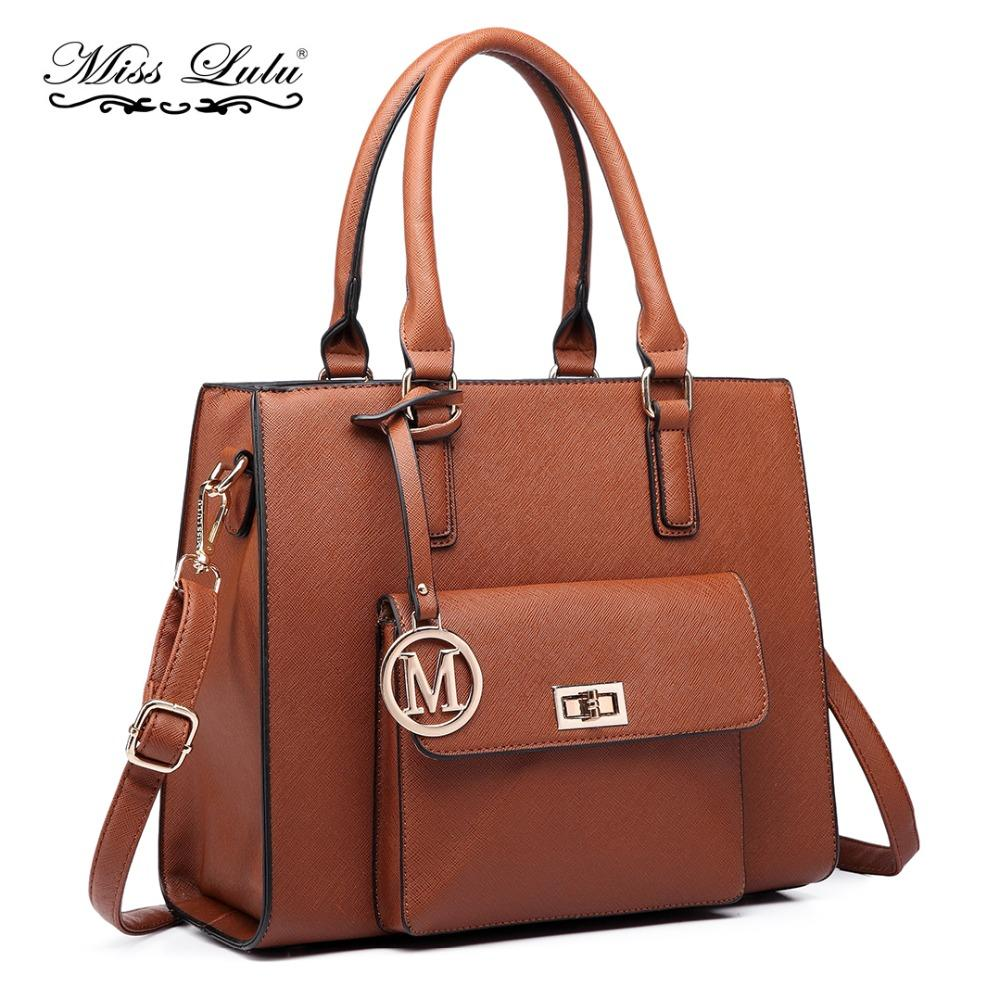 12677de675 Miss Lulu Women Designer Luxury M Handbags Female PU Leather Tote ...