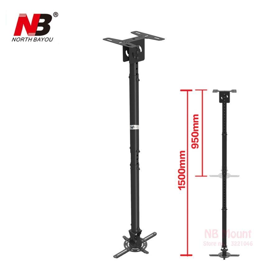 Delicieux NBT718 4 Retractable Projector Hanger Ceiling Projector Rack Full Motion  Mount 950~1500mm Black Projector Mount Ceiling Projector Projector Ceiling  Mount ...