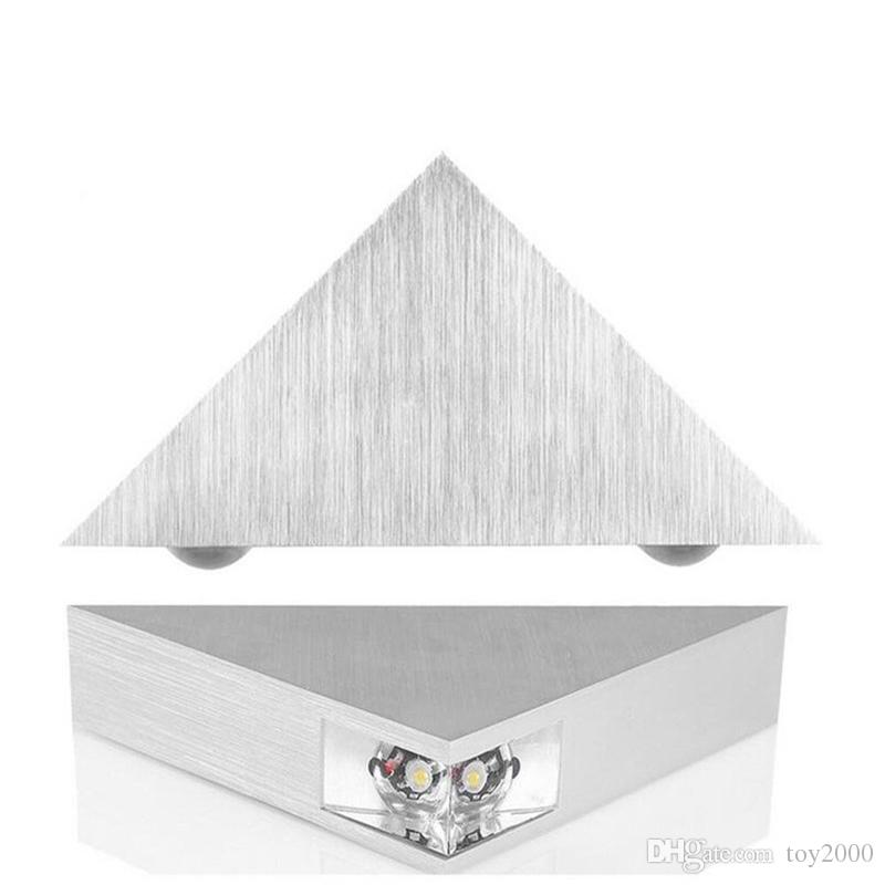 Modern Led Wall Lamp 3W Aluminum Body Triangle Wall Light 3D Night For Bedroom Home Lighting Luminaire Bathroom Light Fixture Wall Sconce 11