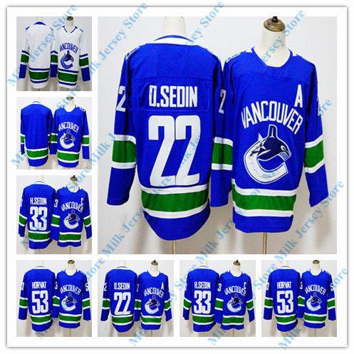 Vancouver Canucks Jersey 22 Daniel Sedin 33 Henrik Sedin 53 Bo ... 06fb1c68b