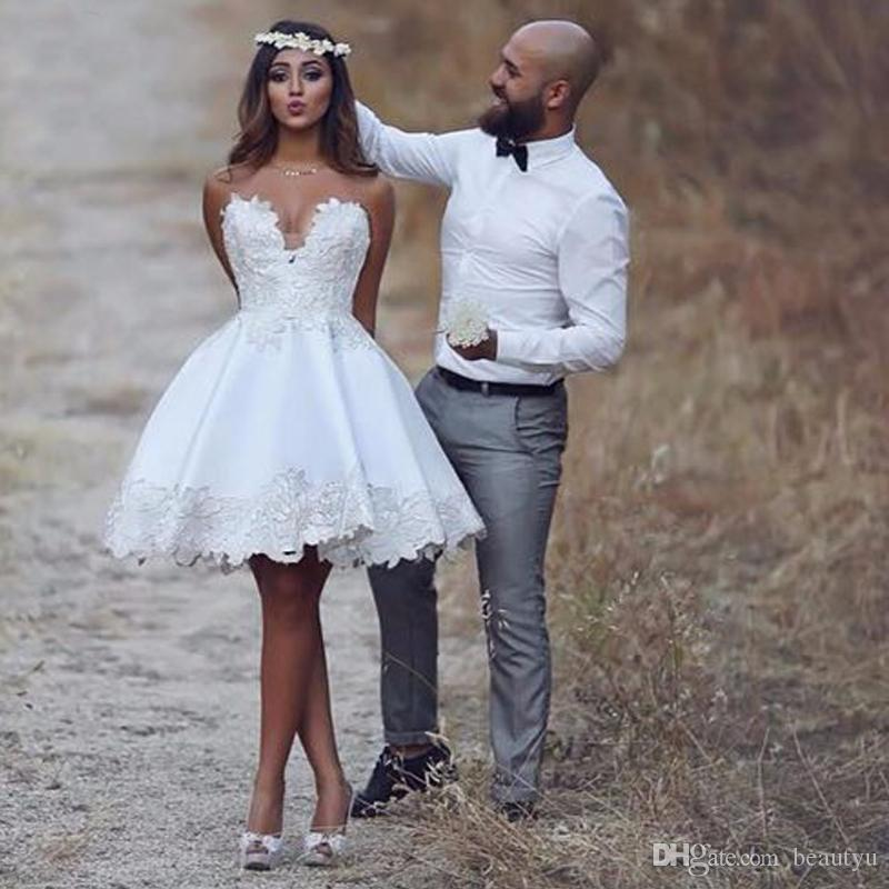 Short Corset Wedding Dress