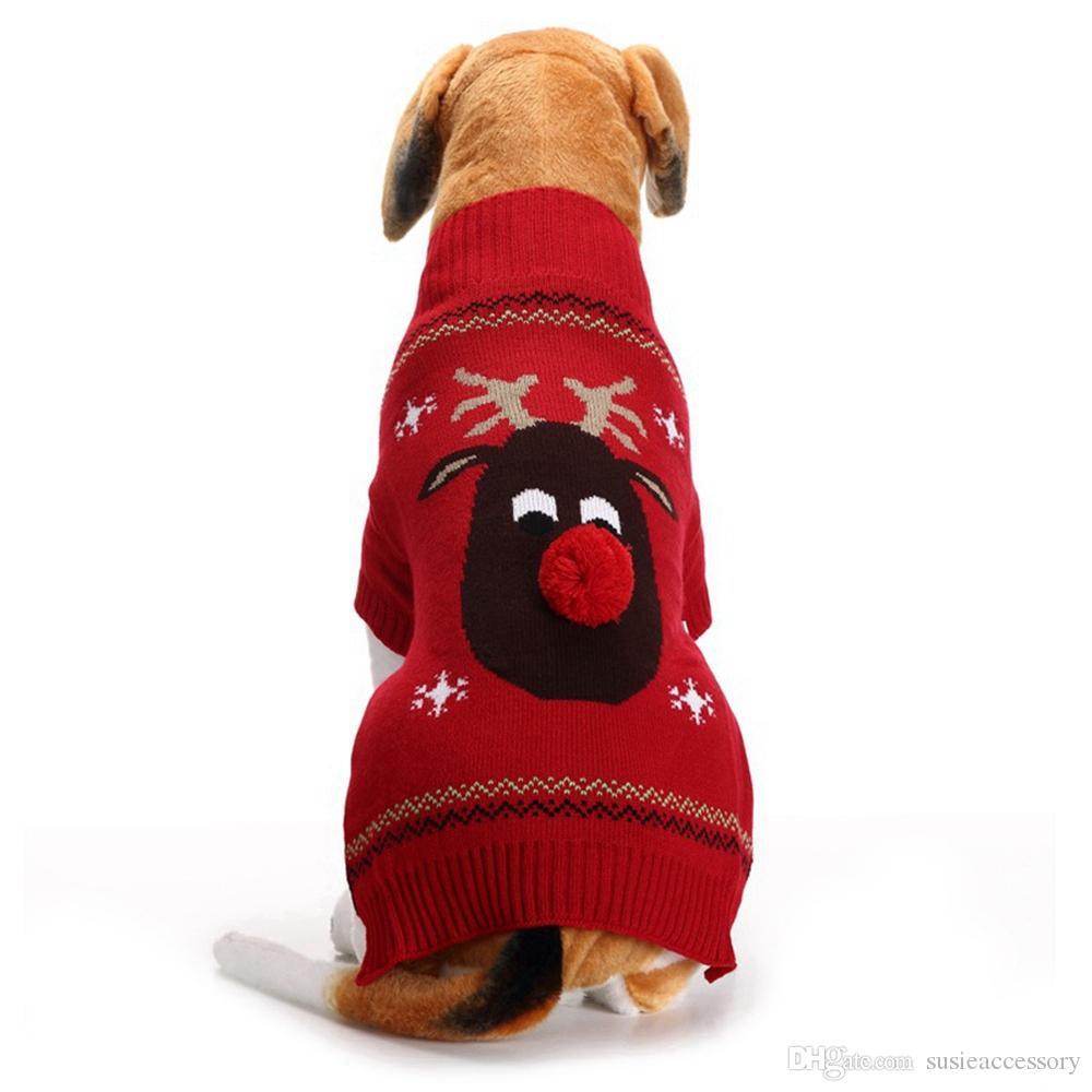 gro handel pet weihnachten kleidung hund pullover warme. Black Bedroom Furniture Sets. Home Design Ideas