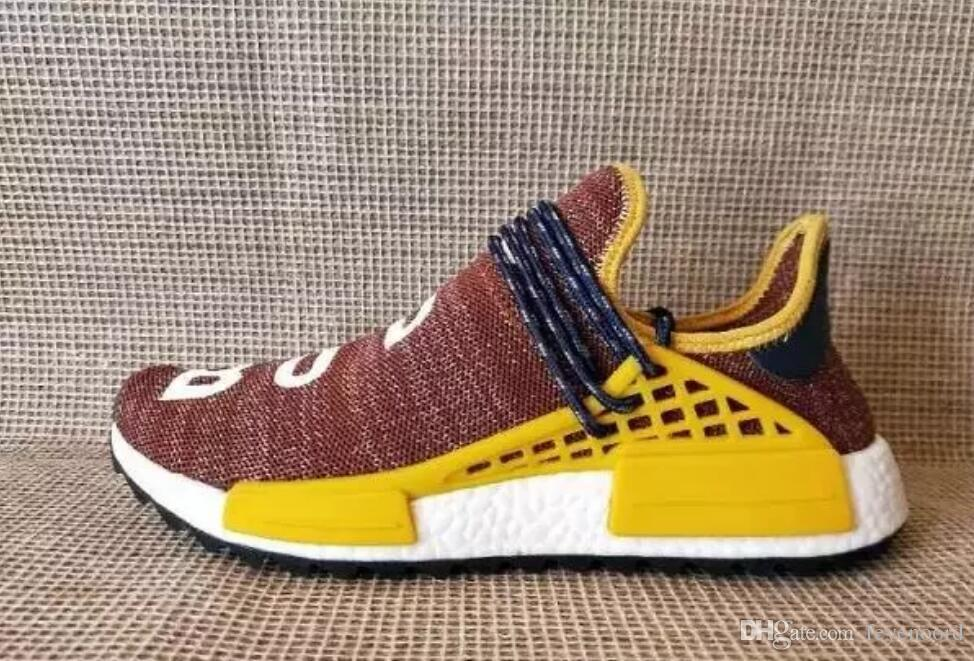 37aa742d9 2019 2017 Brazil S Olympic NMD Runner HumanRace Pharrell S Williams Fashion Running  Shoes Top Human Race Pharrell X Sports Sneakers From Feyenoord