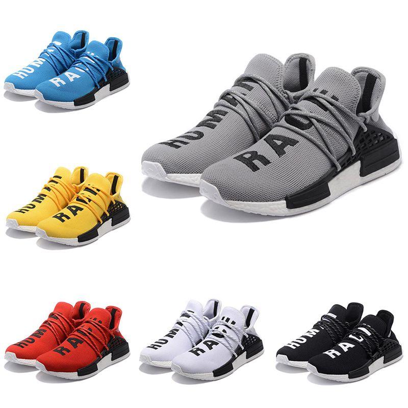 new products 0df10 c2549 Großhandel Männer Frauen Laufschuhe Pharrell Williams HU Runner Weiß  Schwarz Gelb Rot Grün Grau Blau Günstige Sport Sneaker Größe 36 45 Von  Trainers shoes, ...