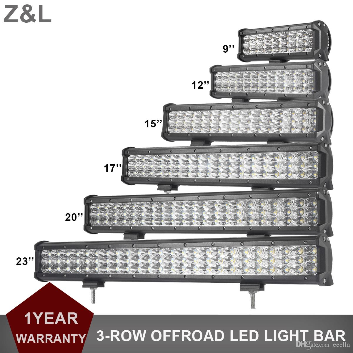 Car Suv Led Work Light Bar Offroad 9 12 15 17 20\'\' 23 Inch Led ...