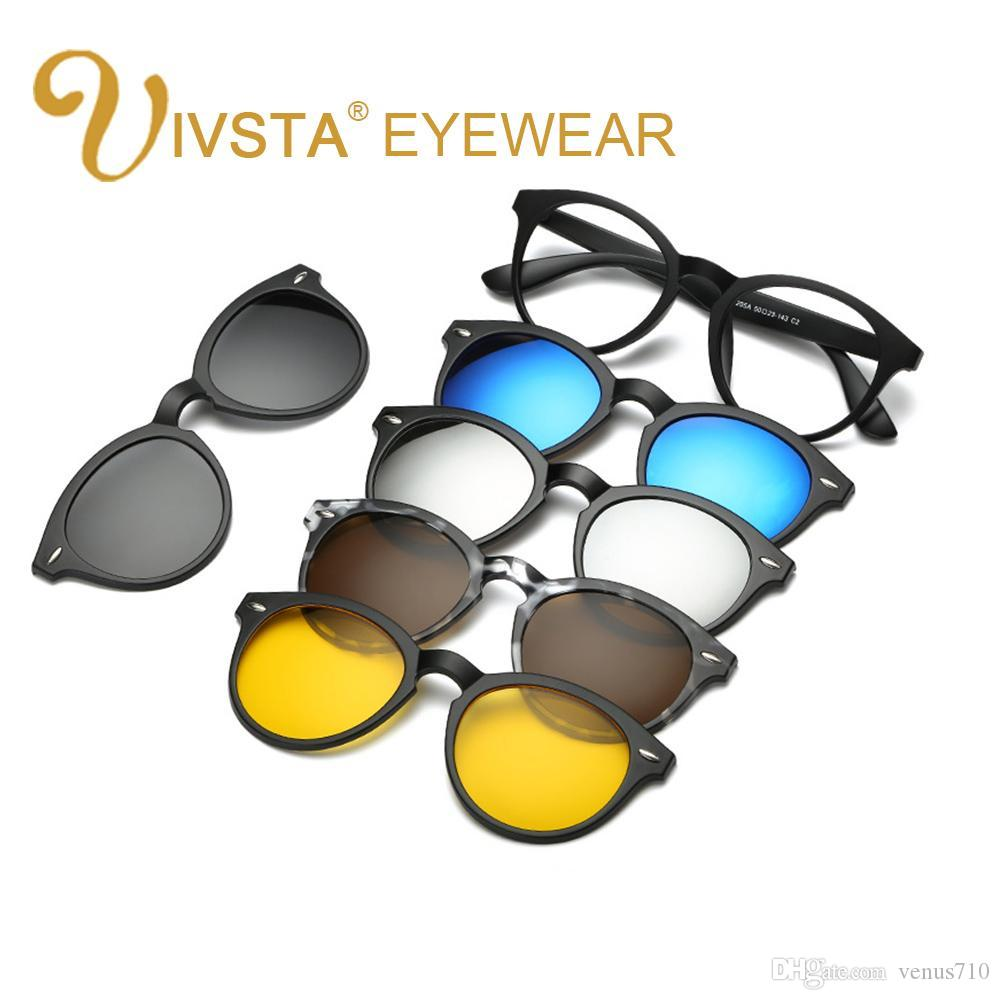 Wholesale-IVSTA Buy One Get 5 Magnetic Clip Sunglasses Women Glasses ...