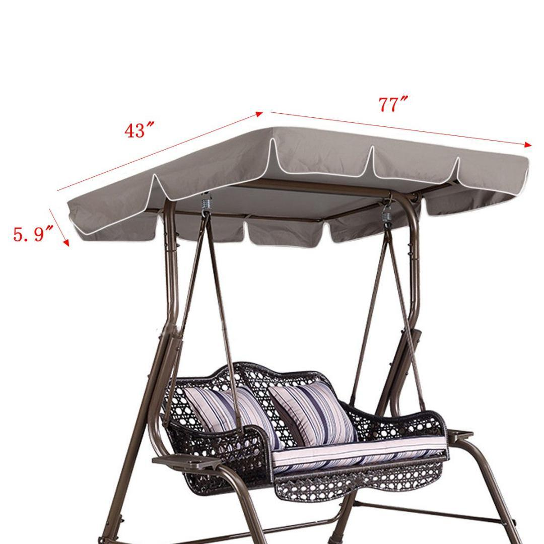 77x43x5 9 Waterproof Swing Chair Awning Top Cover Canopy Replacement