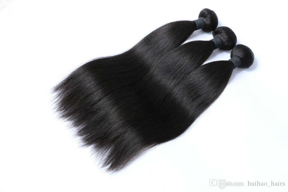 8A Great Quality Human Hair Weave Straight 3 Bundles Cheap Brazilian Peruvian Malaysian Indian Virgin Hair Bundles