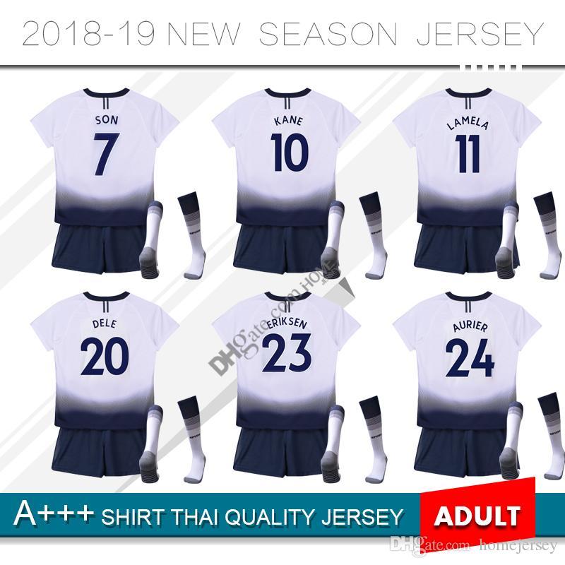 052470ca1 18 19 KANE Spurs Soccer Jersey Home White Soccer Jerseys 2018 2019 ...