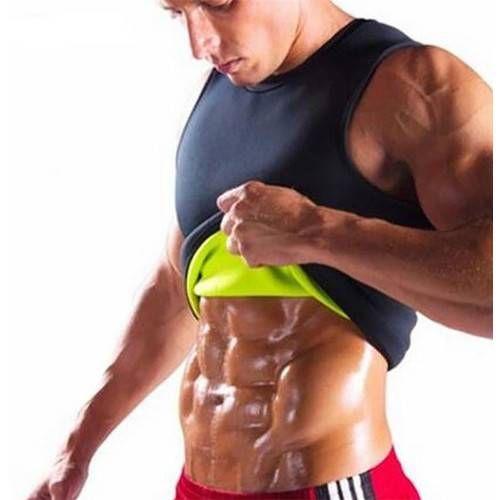 157adb70cc7 2019 Men Gym Fitness Neoprene Vest Body Shaper Ultrathin SweatShirt Sports  Top Slimming Waist Trainer Black From Asport