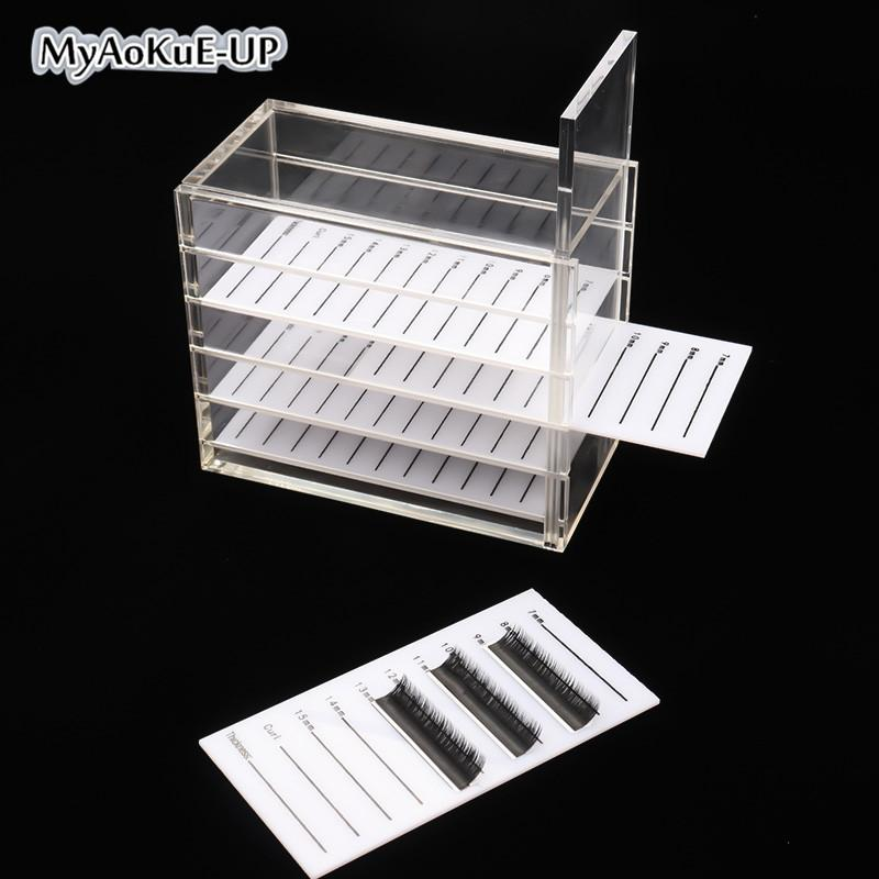 1538f2e9ffa Eyelashes Storage Box 5 Layers + 1 Box Acrylic Pallet Lash Holder ...