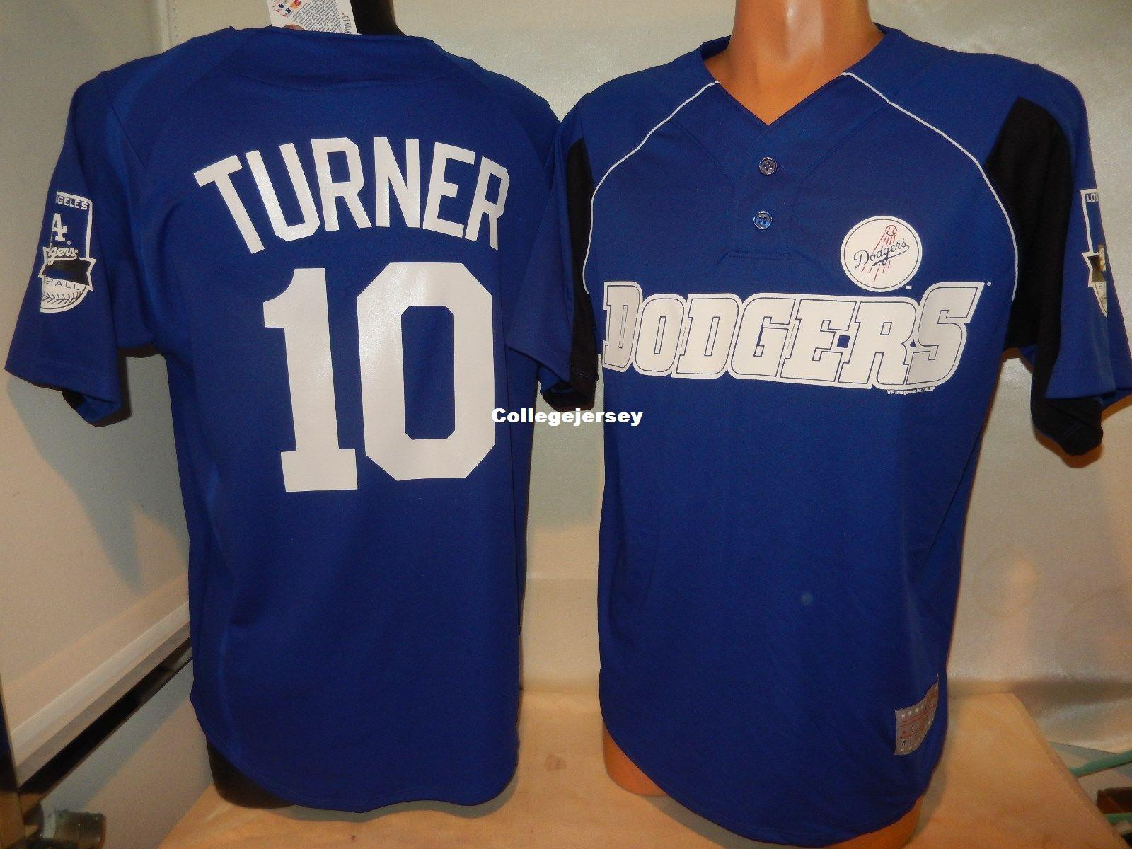 "Cheap custom LA #10 JUSTIN TURNER ""2 Button Pullover"" shirt JERSEY New Mens stitched jerseys Big And Tall SIZE XS-6XL For sale"
