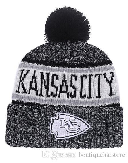 2019 New Baseball Brand Women S Winter Warm Beanies With Pom Fashion Street  Out Door Wool Kansas KC Cuffed Knit Hat Men S Skull Knitted Caps UK 2019  From ... ec245ac28de5