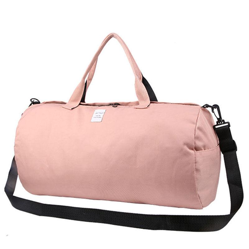 3b2a1ba61223 2019 2018 Top Female Sports Nylon Gym Bags Lady S Fitness Yoga Bag Handbags  For Women Over The Shoulder Fancy Travel Bag Pink XA507WD From Shinyday