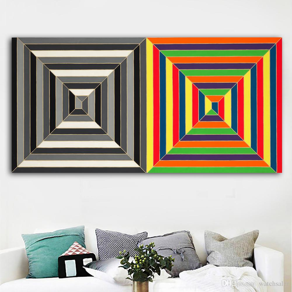 2019 1 panel hd canvas art abstract painting two color untitled 1966 picture large size wall art prints posters for living room no frame from watchsaler