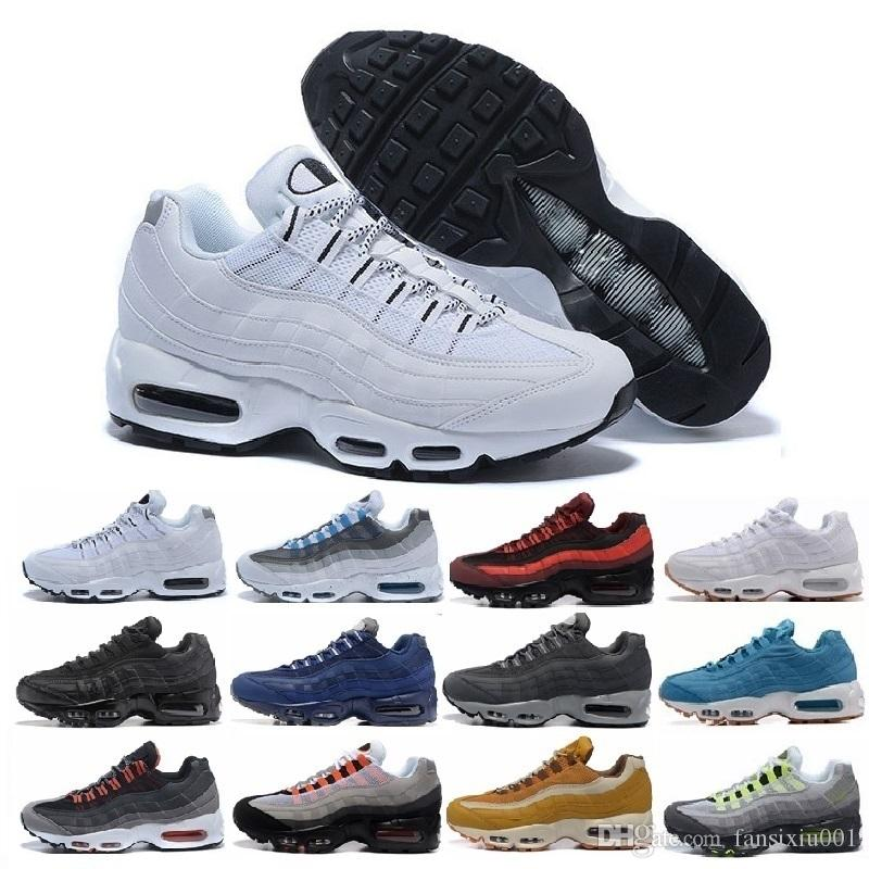 cheaper 12288 63e3c Acquista Nike Air Max 95 Airmax 95 Scarpe Da Ginnastica Da Donna Scarpe Da  Corsa Classic 95 Scarpe Da Ginnastica Nere Rosse Bianche Da Allenamento  Cuscino ...