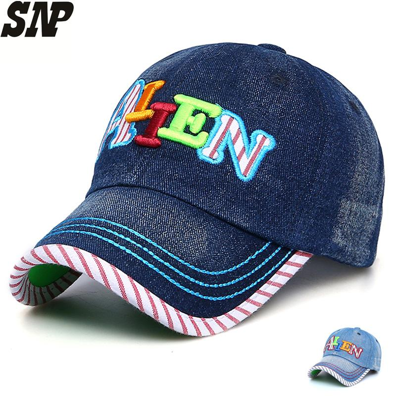 60eaac86cae70 SNP Baseball Cap For Children Girl Full Cap Boy Dad Hat Sport Letter  Embroidery Youth Denim Bones Baseball Hat Fitted Hatland Brixton Hats From  Jianyue16