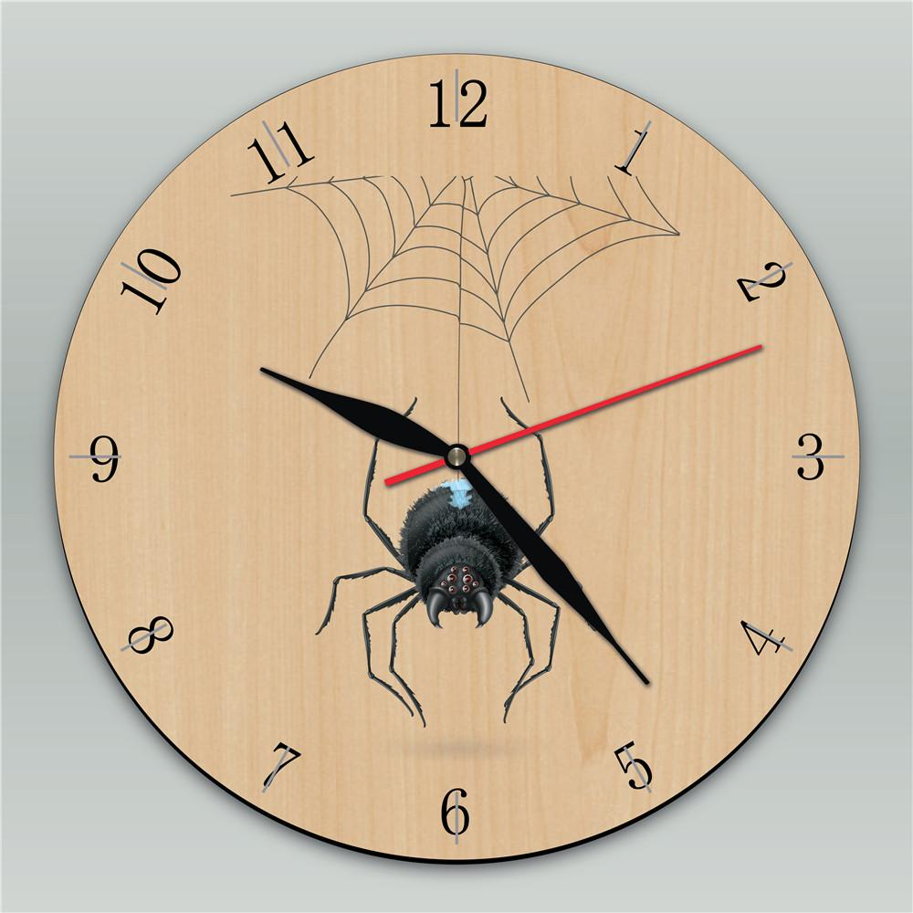 Spider Wooden Wall Clock Unique Childs Clock Personalized Kids