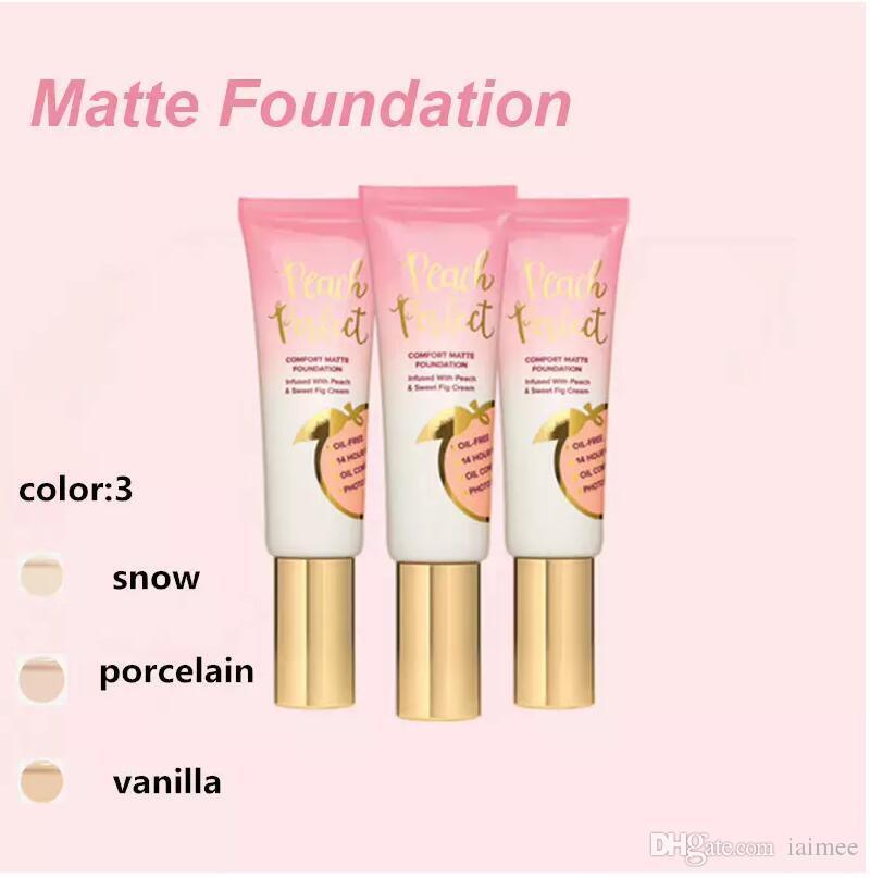 Dropshipping Hot trucco Foundation Peach perfect comfort matte foundation 48ml Crema viso Fondotinta Alta qualità