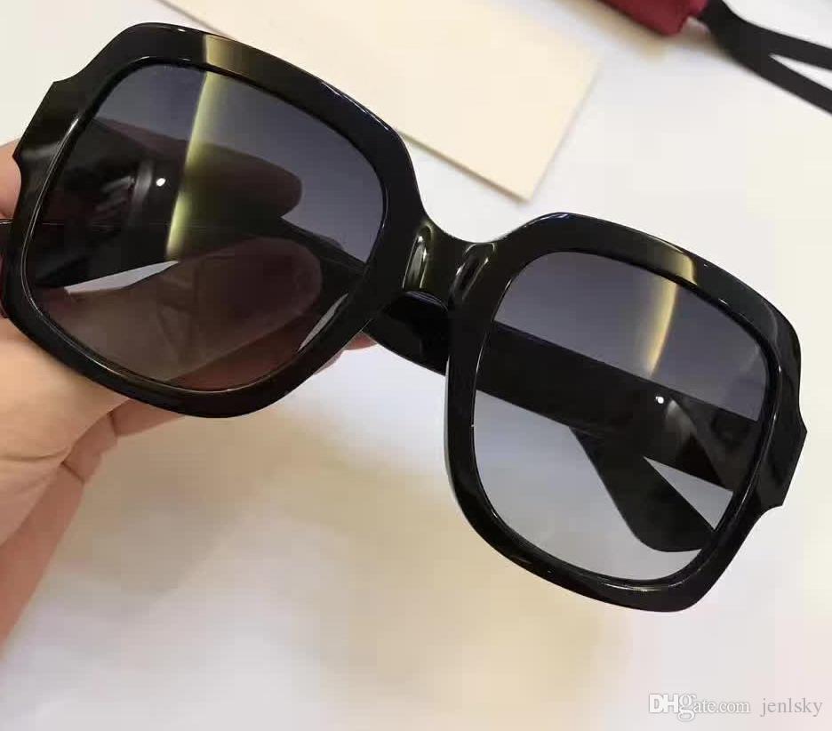 38d203c8d7 Compre 0036 / S Gafas De Sol Cuadradas Negras Lente Gris Degradada Gafas De  Sol De Diseño De Lujo De Sonnenbrille 54 Mm Gafas De Sol Nuevo Con Estuche  A ...