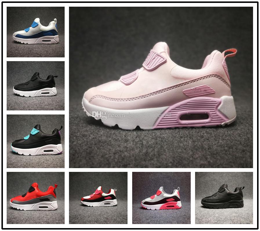 d32342395d645 Acheter Nike Air Max Airmax 90 Sneakers Enfants Presto 90 II Chaussures  Enfants Sports Orthopédiques Jeunesse Formateurs Enfants Infantile Filles  Garçons ...