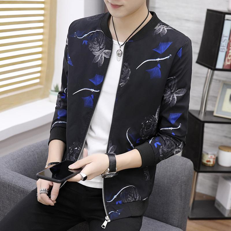 92889171c M-6XL Bomber Jacket Men Floral Printing Fancy Mens Outerwear Clothing 2018  New Designs Flower Men s Casual Jackets Slim Fit